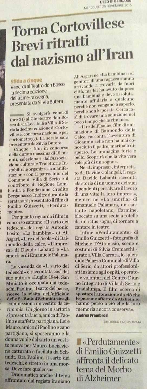 Traiettorie Instabili Corto Villese Villa di Serio